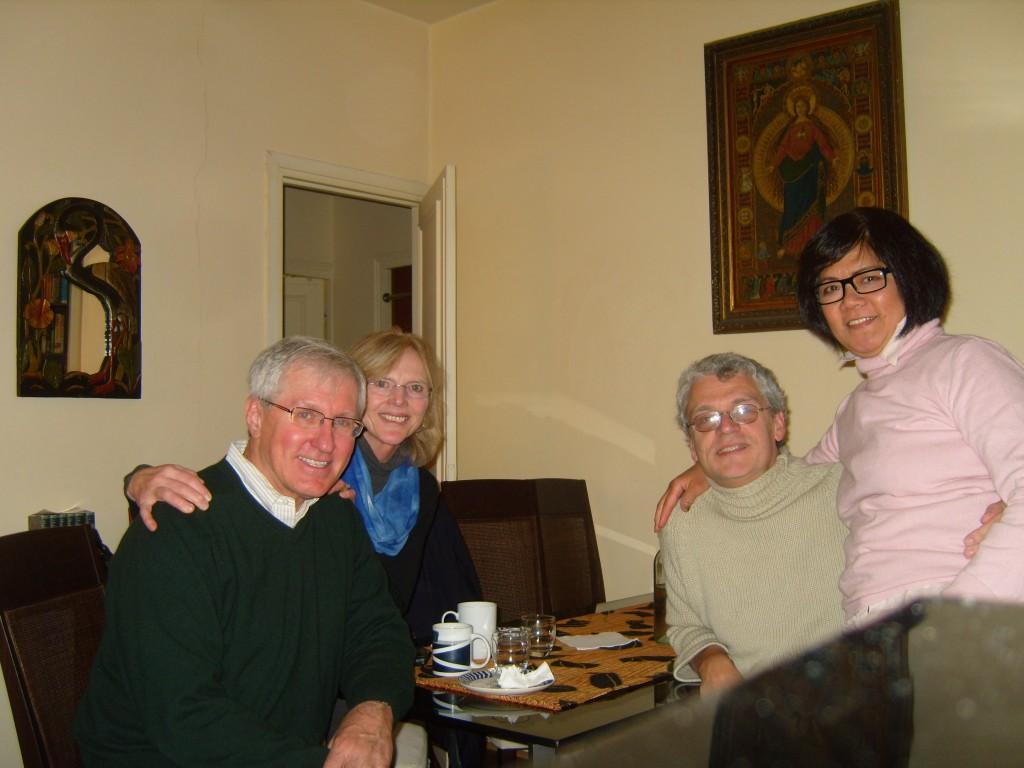 With the Schuremann's in Montmartre -- Photo courtesy of M. Schuermann