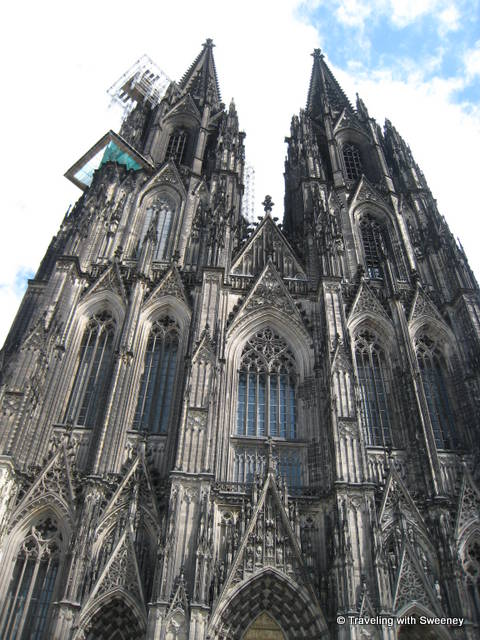 Amazing detail of Cologne Cathedral exterior, Cologne, Germany