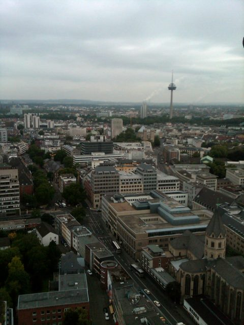 City of Cologne from the top of Cologne Cathedral