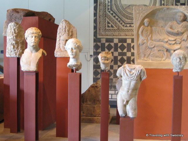 Roman statues at Roman - Germanic Museum