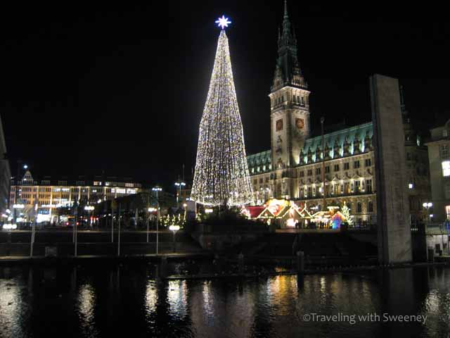 Christmas in Germany at Rathaus in Hamburg, Germany