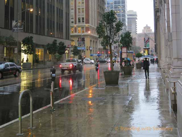 San Francisco in the rain