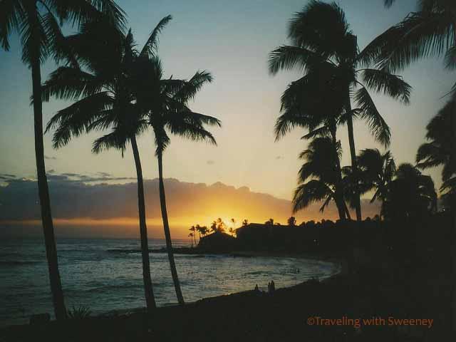 sunset from condo Kauai