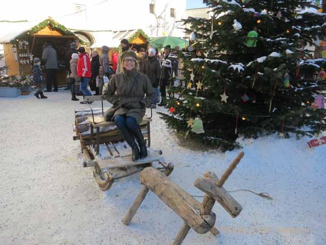 European Christmas Markets: Hohensalzburg Fortress atop Festungsburg Mountain in Salzburg, Austria
