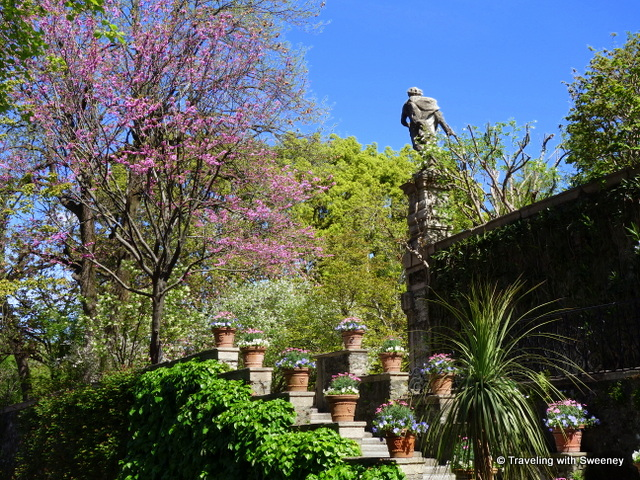 Lake Maggiore Gardens - Plants and trees in bloom adorning the terraces of Isola Bella