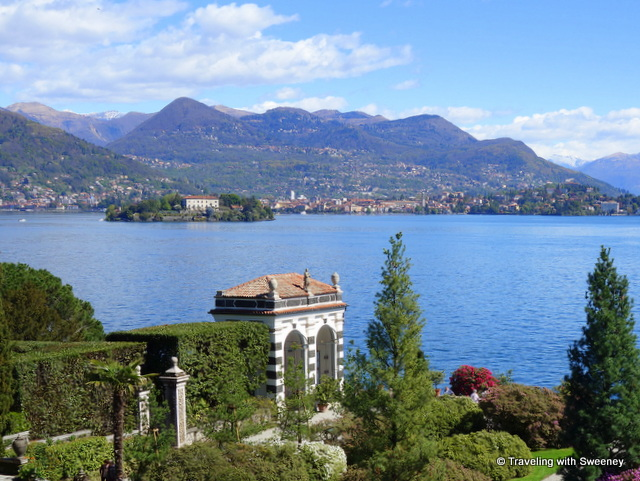 Lake Maggiore Gardens - Lake Maggiore from the palace and gardens of Isola Bella