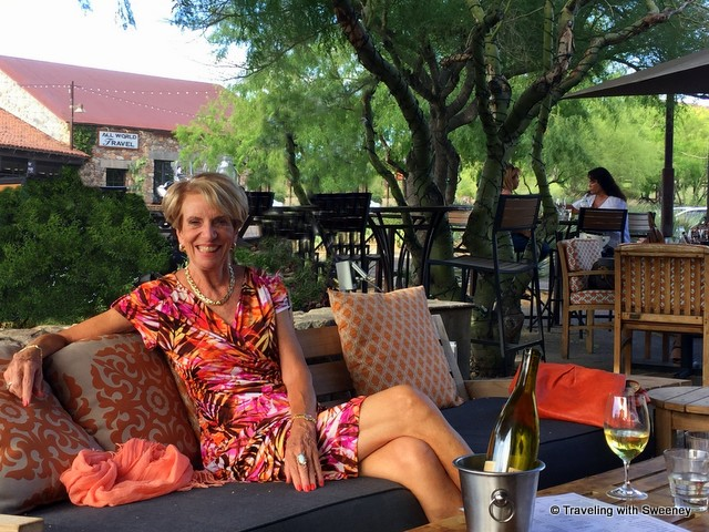 Happy Hour on the patio of The Living Room at DC Ranch with Jane Blacker of Russ Lyon Sotheby's Luxury Real Estate