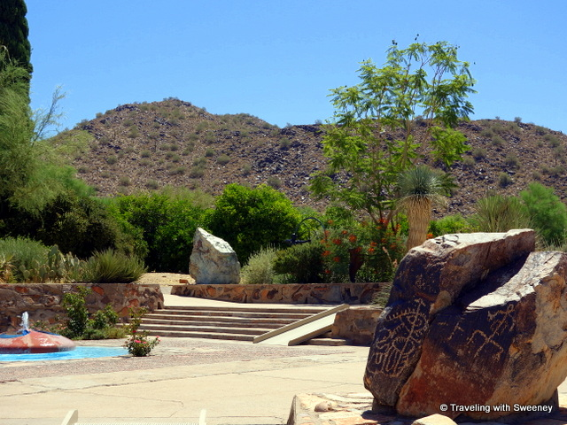 Petroglyphs are found throughout Taliesin West in Scottsdale, Arizona