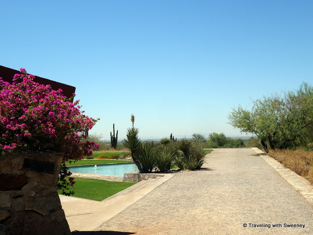 Prow of the ship landscape design at Taliesin West