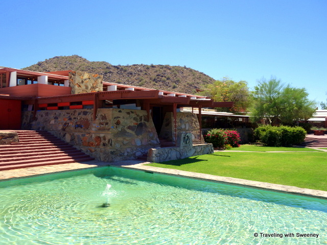 Water, mountains, rocks -- the Taliesin West environment