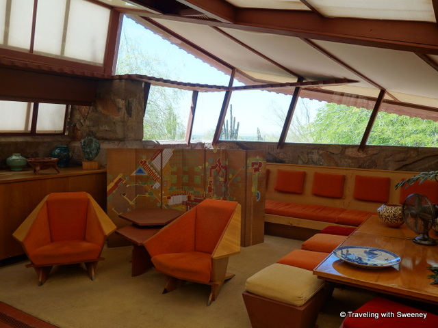 South end of the Garden Room at Taliesin West