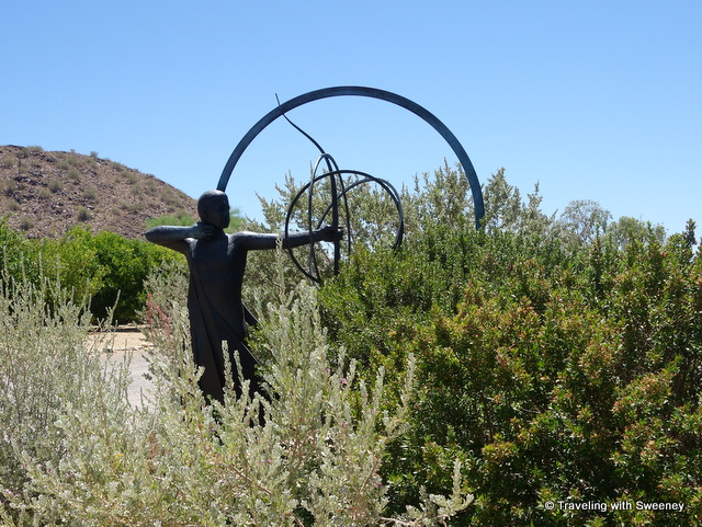 Sculptures on the grounds of Taliesin West in Scottsdale, Arizona