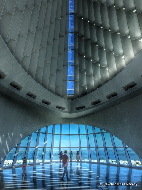 Inside Quadracci Pavilion of the Milwaukee Art Museum designed by Spanish architect Santiago Calatrava