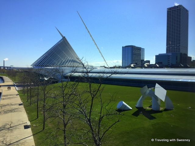 Exterior of Quadracci Pavilion of Milwaukee Art Museum in Milwaukee, Wisconsin