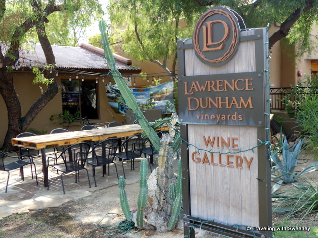 Front patio of LDV Winery's Wine Gallery in Scottsdale, Arizona