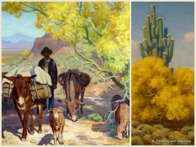 Paintings of Marjorie Thomas, Arizona Art Pioneer, at Western Spirit: Scottsdale's Museum of the West in Scottsdale, Arizona