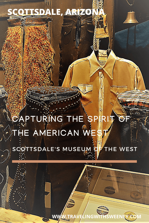 Western chaps on display at Scottsdale's Museum of the West in Scottsdale, Arizona