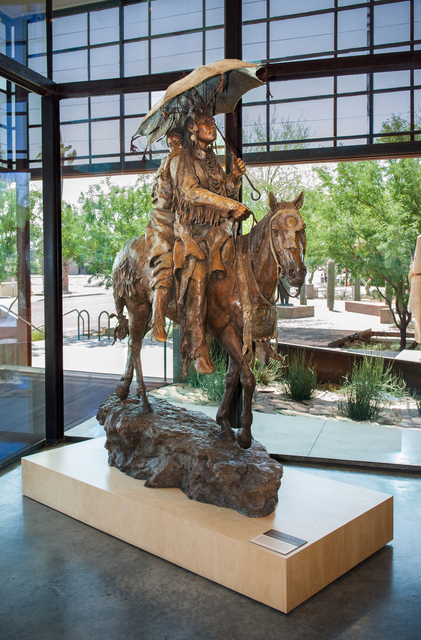 """Honeymoon at Crow Fair"" by John Coleman in museum lobby -- Photo courtesy of Experience Scottsdale at Western Spirit: Scottsdale's Museum of the West in Scottsdale, Arizona"