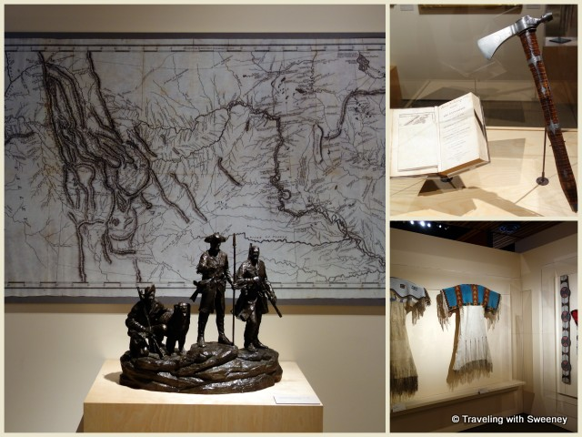 Courage and Crossroads Exhibition; Meriwether Lewis tomahawk (top right) at Western Spirit: Scottsdale's Museum of the West
