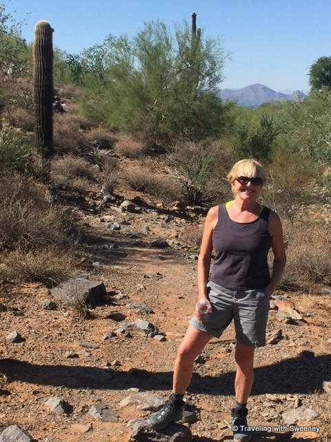 Sweeney on the Paradise Trail in the McDowell Sonoran Preserve