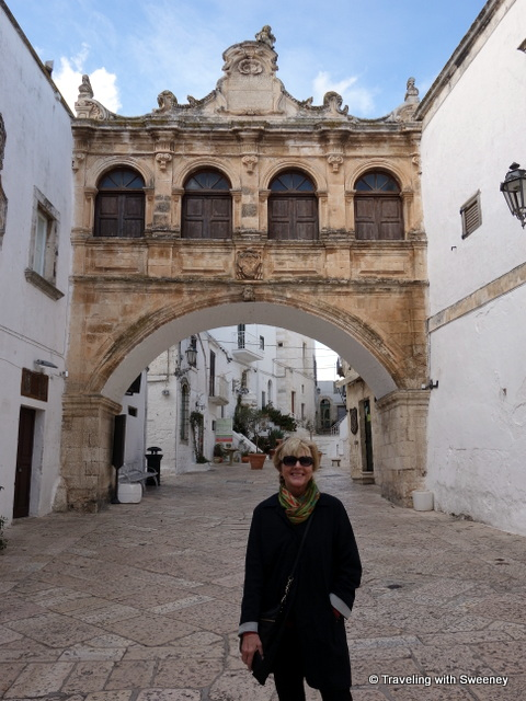 At the Scoppa Arch in Ostuni, Italy