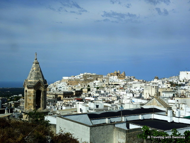 Panoramic view of Ostuni from Via Panoramica