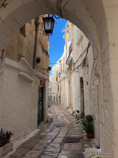 Through the archway, I entered another hidden neighborhood in Ostuni, Italy