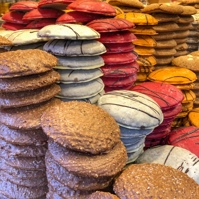 There are many varieties of gingerbread at the Nuremberg Christmas Market