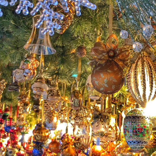 Gorgeous ornaments at the Nuremberg Christmas Market in 2017