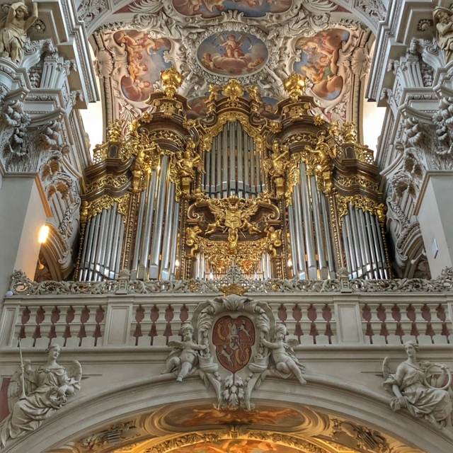 Organ at St. Stephen's Cathedral in Passau, Germany