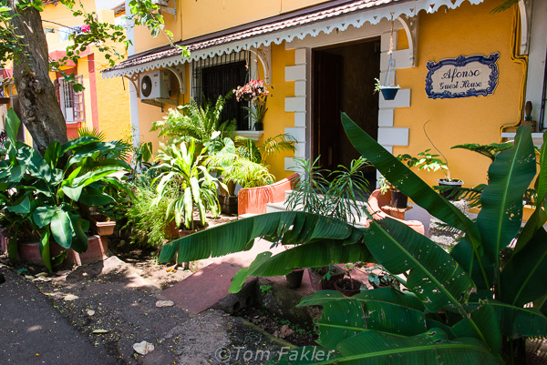 Houses in this Panjim neighborhood look as though they could have been lifted from Lisbon and given a tropical makeover. -- Photo by Anita's Feast