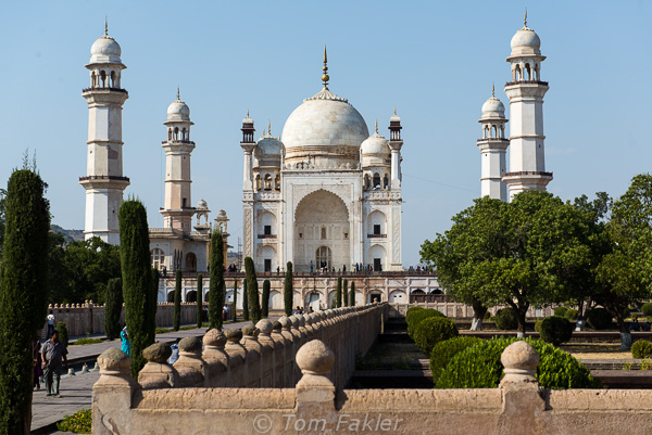Bib-ka-Maqbar is not far from Aurangabad. Sometimes called the Taj of the Deccan, the mausoleum was commissioned by the Mughal Emperor Aurangzeb in the late 17th century. --- Photo by Anita's Feast