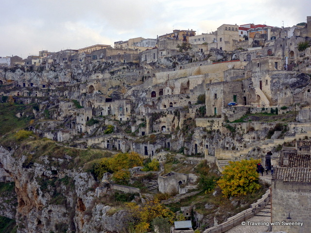 Crude cave dwellings of Sasso Caveoso in Matera, Italy