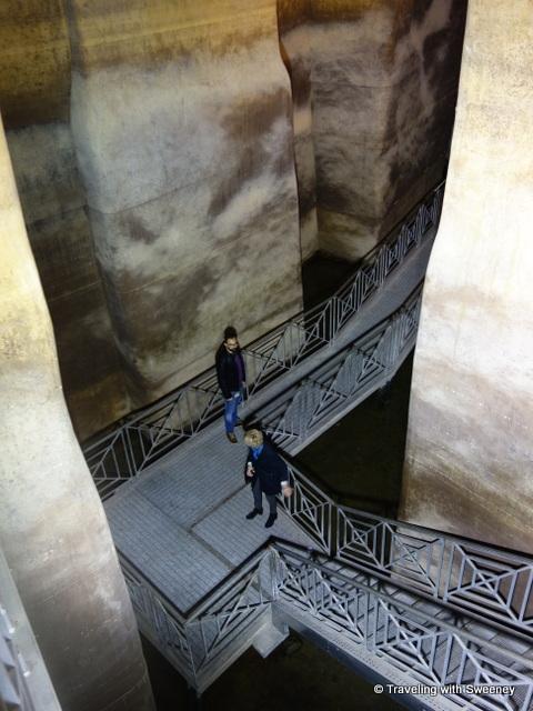 Cistern under Piazza Vittorio Veneto in Matera, Italy