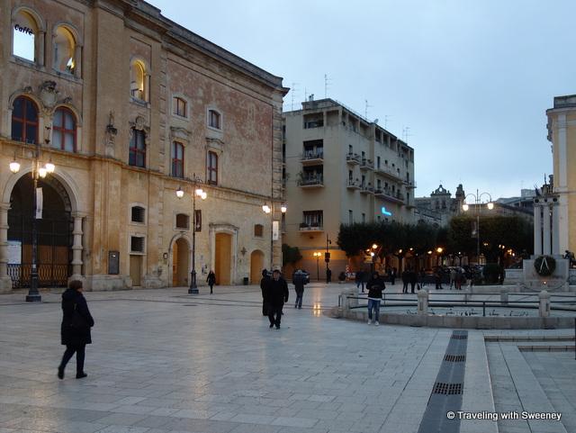 Piazza Vittorio Veneto in Matera, Italy