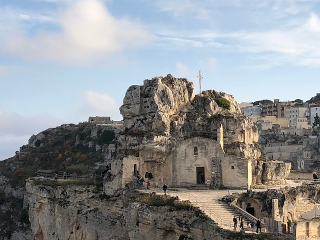 Cave church in Matera, Italy