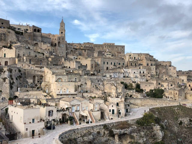 The ancient cave city of Matera in the Basilicata region of Italy