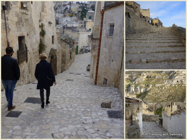 Many stairways meander through the Sassi di Matera