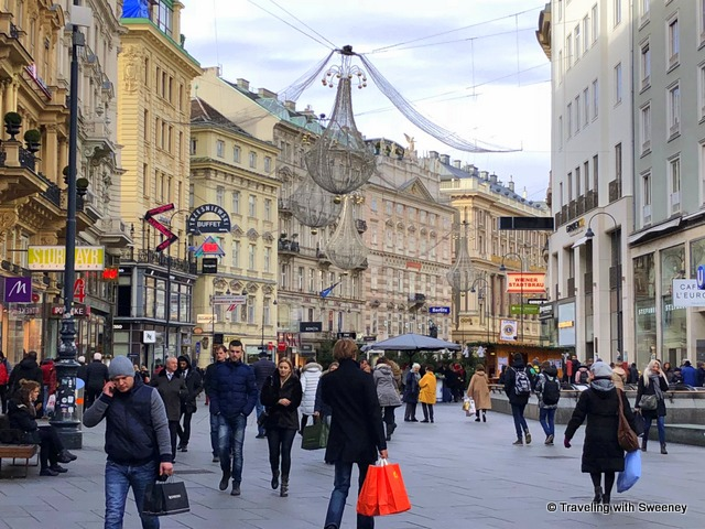 Holiday shoppers in Vienna, Austria