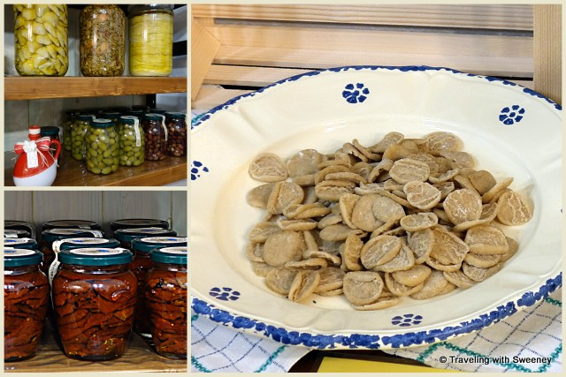 Olive, tomato and pasta products of Azienda Agricola Pugliese in Ostuni, Italy