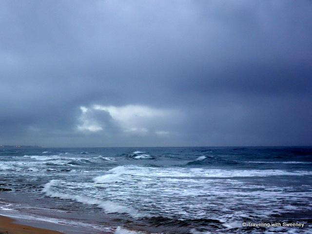 Dramatic off-season Adriatic Sea in Puglia