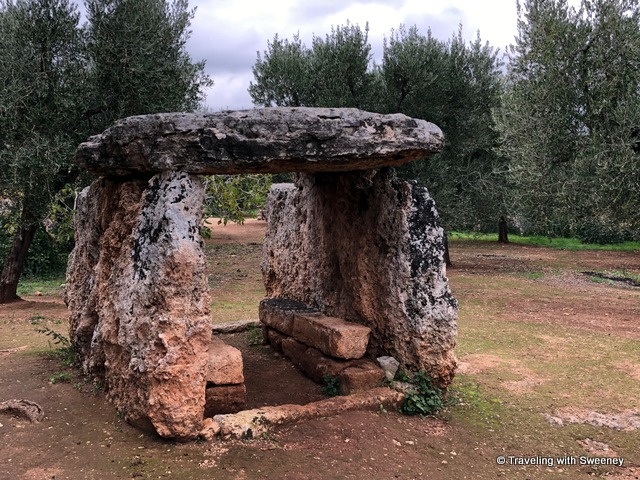 Bronze Age Dolmen di Montalbano in Dune Costiere in the Puglia region of Italy