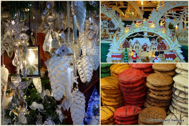 Christmas Market crafts and lebkuchen in Nuremberg, Germany