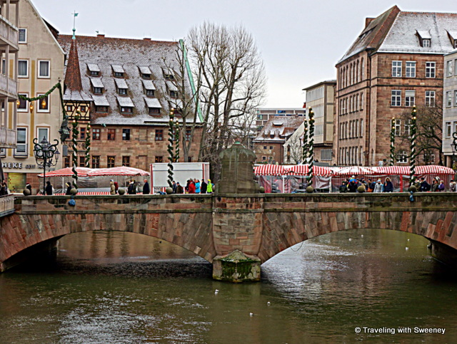 Bridge across the River Pegnitz in Nuremberg, Germany