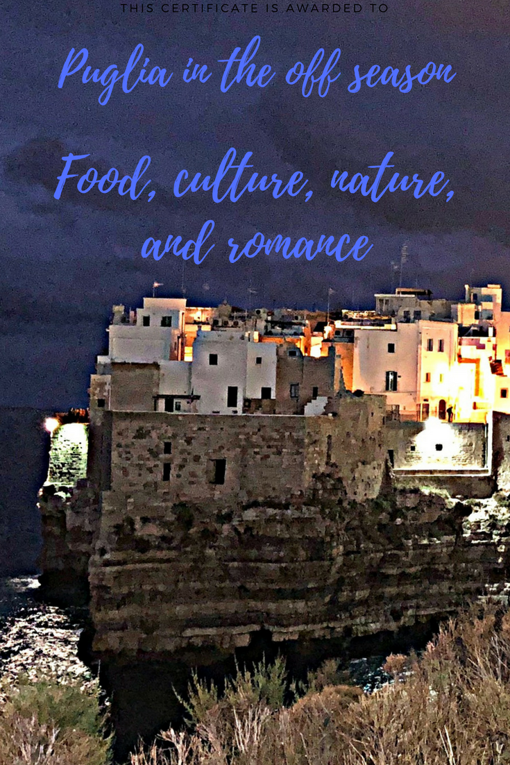 Food, culture, nature, and romance -- top things to do in the #Puglia region of #Italy during the off season #travel