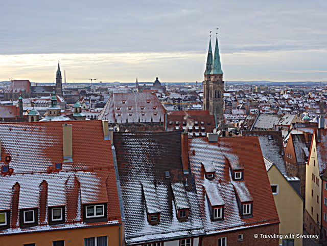 View of Nuremberg, Germany from the Imperial Castle