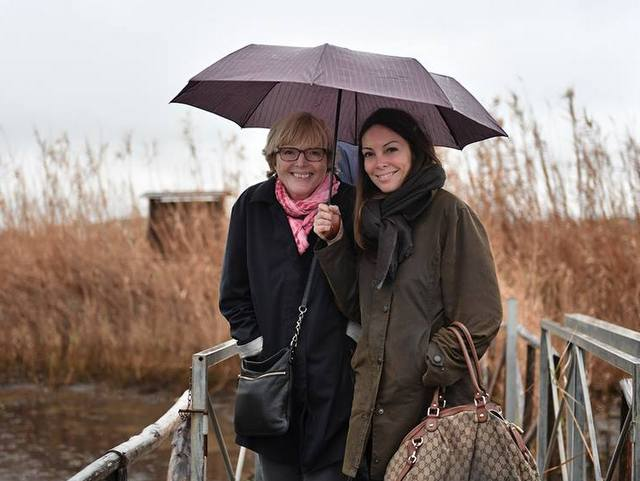 With Elena Benassi at the Dune Costiere fish farms -- Photo by Federica Donadi