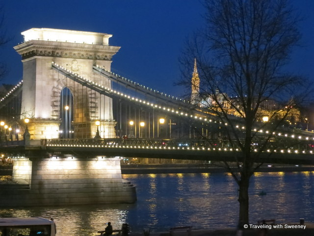 Chain Bridge connecting Buda and Pest across the Danube River, Budapest, Hungary -- one of the beautiful scenes on Viking River Cruises Romantic Danube cruise