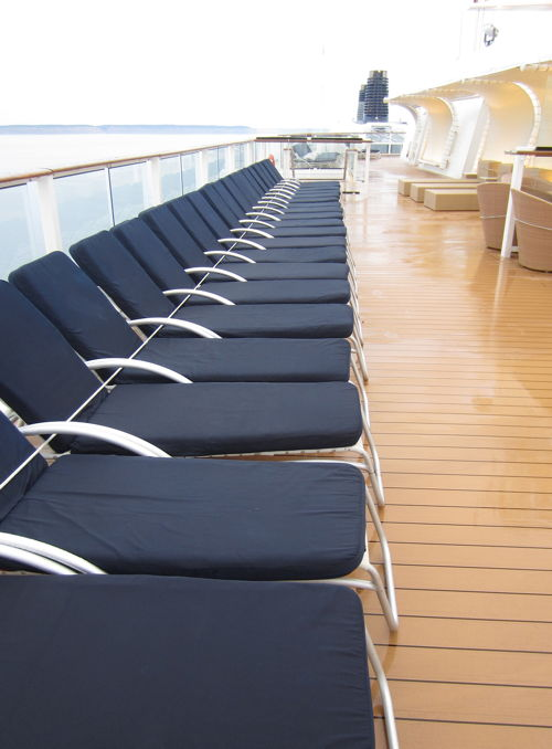 Deck chairs on Celebrity Solstice