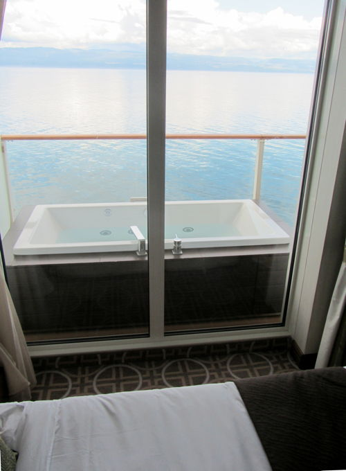 Stateroom's deck tub on Celebrity Solstice